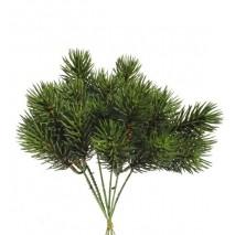 Pick plástico verde pino picea