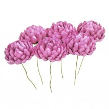 Bolsa de 6 unidades Flor crisantemo 3,5 cm malva