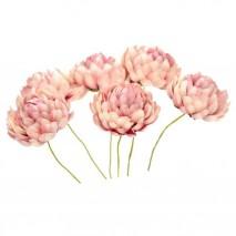 Flor crisantemo 3,5 cm crudo/rosa vintage