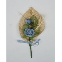 Prendido saco c/envoltorio 11 x 5 cm azul