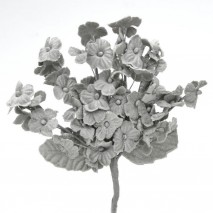 Pomito tela terciopelo miosotis x 6 ramas gris plata