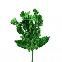 Pomito tela terciopelo miosotis x 6 ramas verde