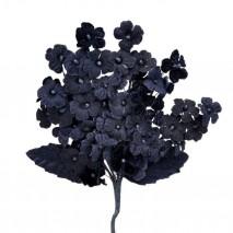 Pomito tela terciopelo miosotis x 6 ramas azul marino