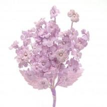 Pomito tela terciopelo miosotis x 6 ramas malva empolvado