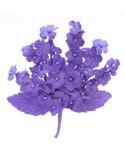 Pomito tela terciopelo miosotis x 6 ramas lila