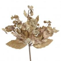 Pomito tela terciopelo miosotis x 6 ramas beig tostado