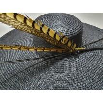Pamela paja trenzada copa baja de 6 cm ala 17 cm aprox d.54 cm negra decorada