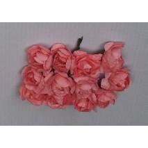 Pomito flor mini papel rosa...