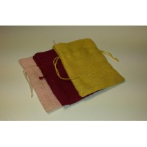 Bolsa yute 14 x 12 cm burdeos