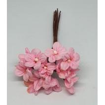 Pomito flor mini tela margarita d.1,70 cm x 12 rosa viejo