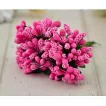 Pomito flor mini pasta pistilos x 12 fucsia