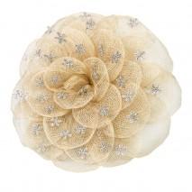 Bouquet alfiler rosa abierta beige