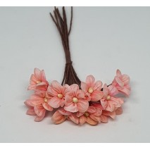 Pomito flor mini tela margarita d.1,70 cm x 12 melocotón