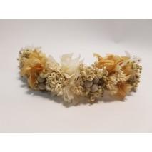 Corona abierta de niña línea Elisa de 16 cm flores preservadas