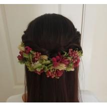 Corona abierta de niña línea Paloma de 16 cm flores preservadas