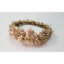Corona de niña línea Patricia de flores preservadas