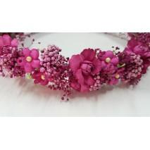 Corona de niña línea Elda de flores preservadas buganvilla