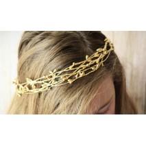 Corona de niña línea Dina de pistilos dorado