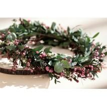 Corona de niña línea Carsena de flores preservadas
