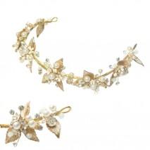 Novias pelo tiara latón dorada 30 x 5 cm
