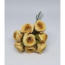 Pomito flor mini foam rosa c/raso x 8 dorado