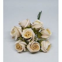 Pomito flor mini foam rosa c/raso x 8 beige