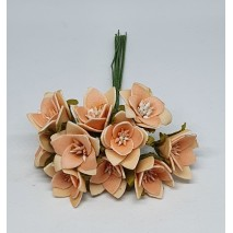 Pomito flor mini foam estrella c/pistilo d.2,1 cm x 10 rosa nude