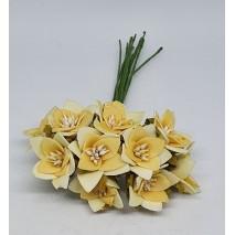 Pomito flor mini foam estrella c/pistilod.2,1 cm x 10 amarilla