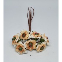 Pomito flor mini foam estrella d.2,3 cm x 7 salmón