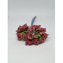 Pomito flor mini foam rosa shang d.2 cm x 12 burdeos lavado