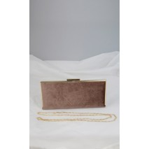 Alquiler bolso de fiesta 25 x 11 cm camel