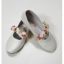 Aplique flores zapatos de niña Creta