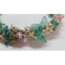 Corona de niña línea Roberta de flores preservadas