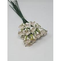 Flor promo papel d.3 cm blanca
