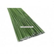 Alambre 0'8 x 30 cm forrado verde unidad