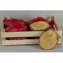 Bolsa 7 rodajas madera abedul oval 20 cm