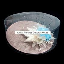 Caja acetato tocado d.50 cm x 20 cm