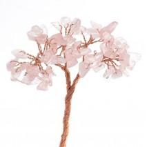 Pomito flor mini pedreria natural x 48 rosa