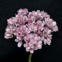 Pomito flor mini papel zinnia 3,5 cm x 12 lila