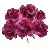 Pomito flor mini papel rosa 4 cm x 6 buganvilla