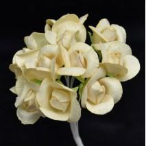 Pomito flor mini papel rosa 2,5 cm x 12 beige