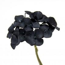 Pomito flor mini papel hortensia 2,5cm x 12 negra