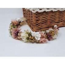 Corona abierta de niña línea Rodas de 35 cm flores preservadas