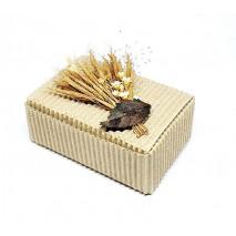 Envase caja rectangular línea ecológica c/tock de flores secas 8 x 5,5 x 3 cm