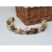 Corona abierta de niña línea Aro de 35 cm flores preservadas