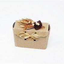 Envase bolso chato línea ecológica c/tock de flores secas