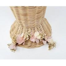 Corona abierta de niña 16 x 2 cm línea Moulay de flores preservadas