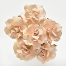 Pomito flor mini papel rosa 4 cm x 6 salmón