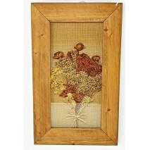Cuadro flores secas 55 x 33 cm