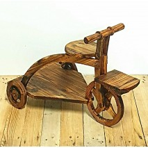 Bicicleta triciclo 2 plataformas madera 60 x 40 cm